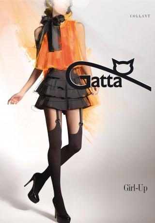 Заказать колготки с имитацией чулка Girl-up 18